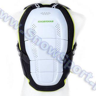Ochraniacz typu żółw ICETOOLS Back Belt Black/Lime  tylko w Narty Sklep Online