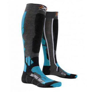 Skarpety X-Socks Ski Pro Soft Anthracite Azure X7A 2019  tylko w Narty Sklep Online