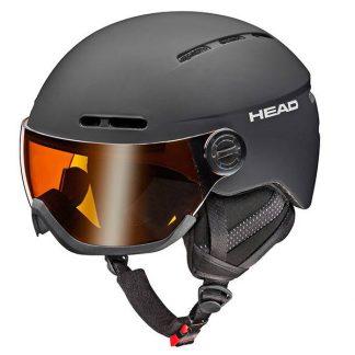 Kask z przyłbicą szybą HEAD Knight Black 2018  tylko w Narty Sklep Online