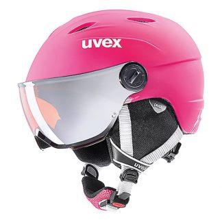 Kask z przyłbicą szybą Uvex Junior Visor Pro Pink Mat 2019  tylko w Narty Sklep Online