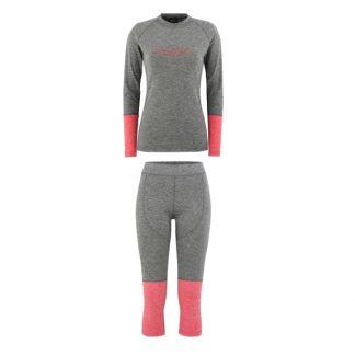 Zestaw Bielizny Technicznej Majesty Cover Lady Base Layer SET Grey/Pink 2019  tylko w Narty Sklep Online