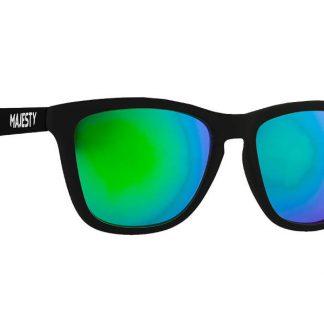 Okulary Majesty M+ Black White/Green Mirror Lenses  tylko w Narty Sklep Online