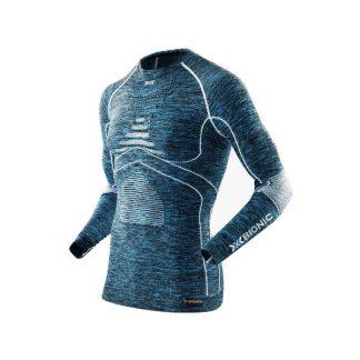 Koszulka termoaktywna X-Bionic Energy Accumulator EVO Man Blue Melange White A598 2019  tylko w Narty Sklep Online