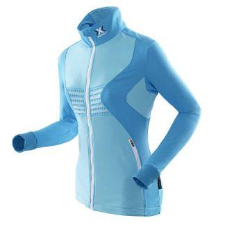 Bluza damska z pełnym zamkiem X-Bionic RACOON FULL ZIP Blue A425 2019  tylko w Narty Sklep Online