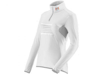 Bluza damska z krótkim zamkiem X-Bionic RACOON FULL ZIP UP UPD White Grey W106 2019  tylko w Narty Sklep Online