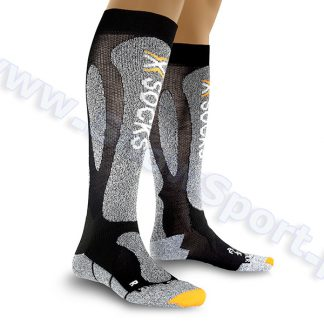 Skarpety X-Socks Ski Carving Silver black grey melange  tylko w Narty Sklep Online