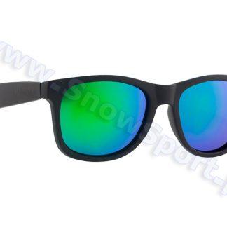 Okulary Majesty Shades L+ Black Matt / Green Mirror Lenses  tylko w Narty Sklep Online