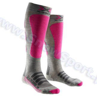 Skarpety X-Socks Ski Silk Merino Lady grey fuchsia  tylko w Narty Sklep Online