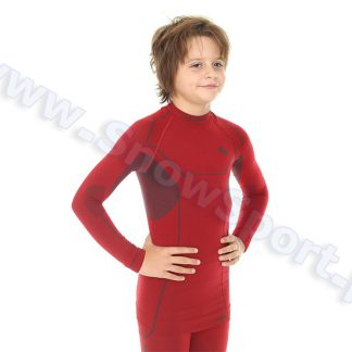 Koszulka Chłopięca BRUBECK KIDS THERMO DARK RED (LS11460)  tylko w Narty Sklep Online