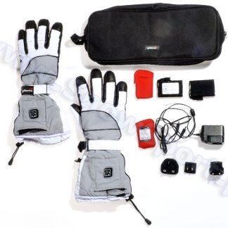 Ogrzewane rękawice narciarskie Glovii GS2 Białe  tylko w Narty Sklep Online