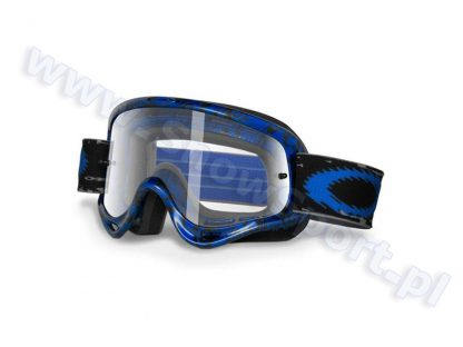 Gogle Motocross OAKLEY O Frame MX Blue Tribal Clear (01-637)  tylko w Narty Sklep Online