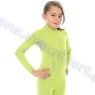 Koszulka Dziewczęca Termoaktywna BRUBECK KIDS THERMO LIME (LS11450)  tylko w Narty Sklep Online