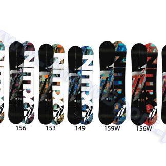 Deska NITRO T1 ZERO / flat ROCKER  2012  tylko w Narty Sklep Online