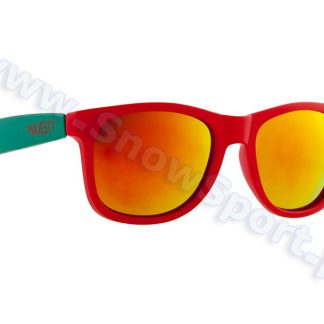 Okulary Majesty Shades L+ Red Turquoise / Red Mirror Lenses  tylko w Narty Sklep Online