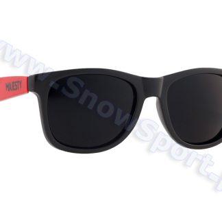 Okulary Majesty Shades L+ Black Red / Black Lenses 2017  tylko w Narty Sklep Online