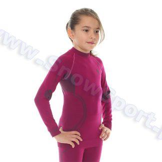 Koszulka Dziewczęca Termoaktywna BRUBECK KIDS THERMO BERRY (LS11450)  tylko w Narty Sklep Online