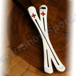 Srebrny naszyjnik SilverSurf Ski Cross L  tylko w Narty Sklep Online